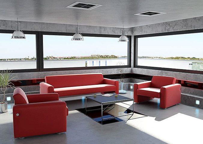 furniture collection 3d model obj mtl 1
