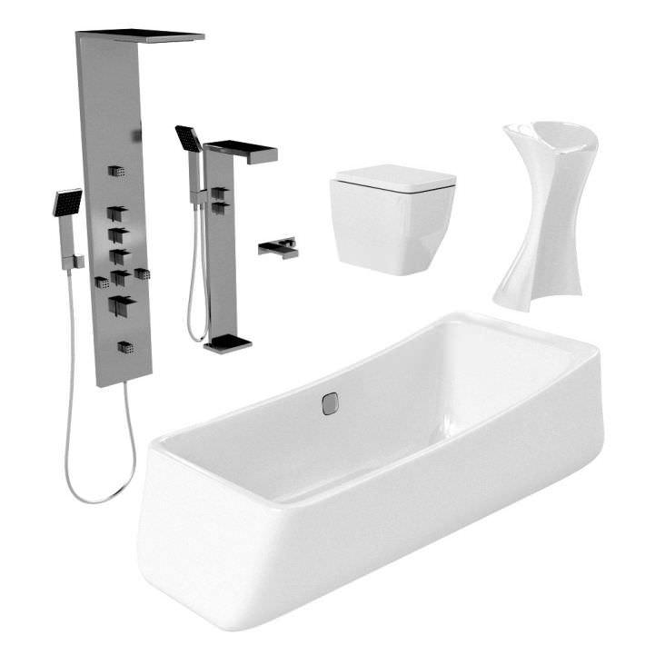 Model Waterworks Plumbing Fixtures Kohler Bathtub Duravit Toilet