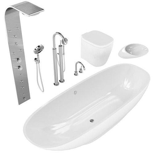 Wonderful Artceram Hermitage Bathroom Fixtures 3D Model MAX FBX  CGTradercom