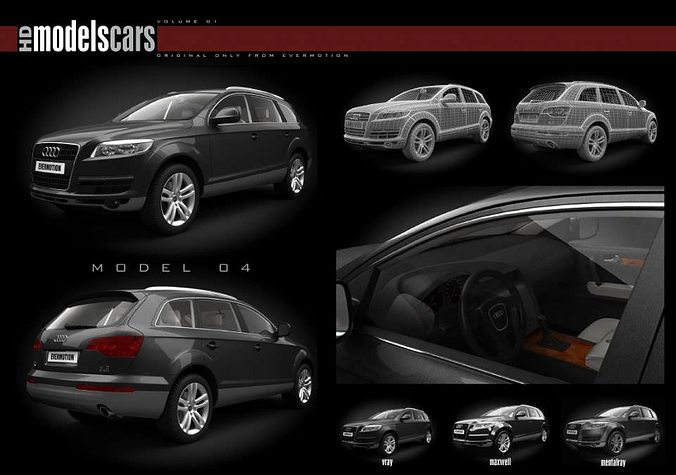 car collection 3d model obj 1