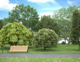 3d realistic tree collection