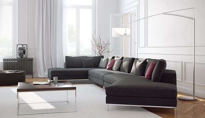 realistic sofas collection 3d model max fbx c4d 1