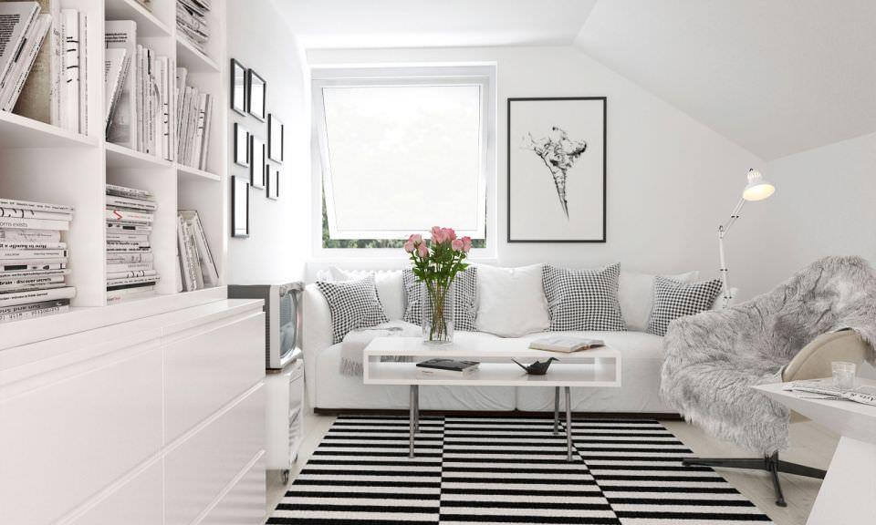 Cozy White Living Room Scene 3D model | CGTrader