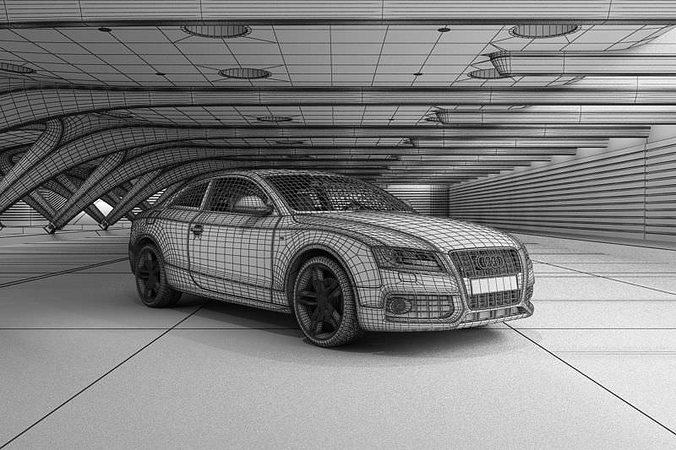 Audi A5 Coupe White 3d Model Cgtrader
