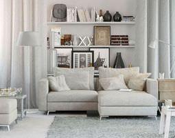 Scandinavian Style Living Room 3D