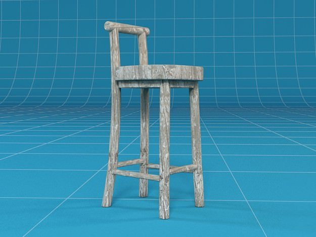 3d model barstool cgtrader for Barhocker 3d model