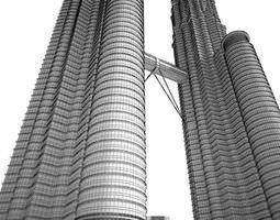 3D model Modern Skyscraper Twins