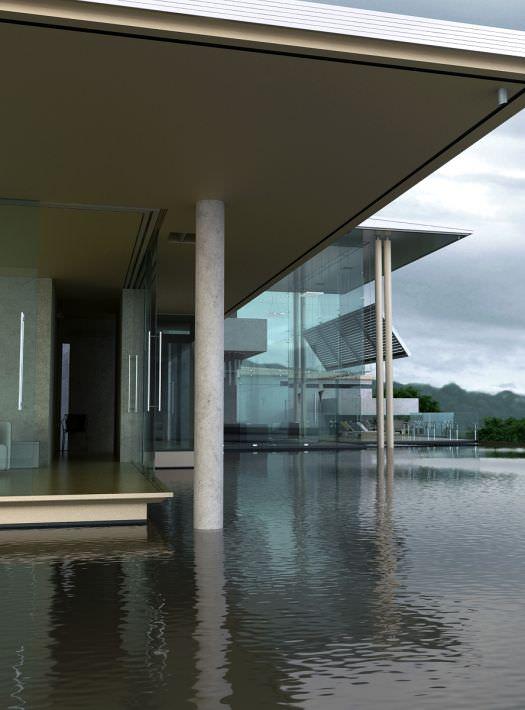 Modern house on the lake 3d model max for Modern house 8 part 3