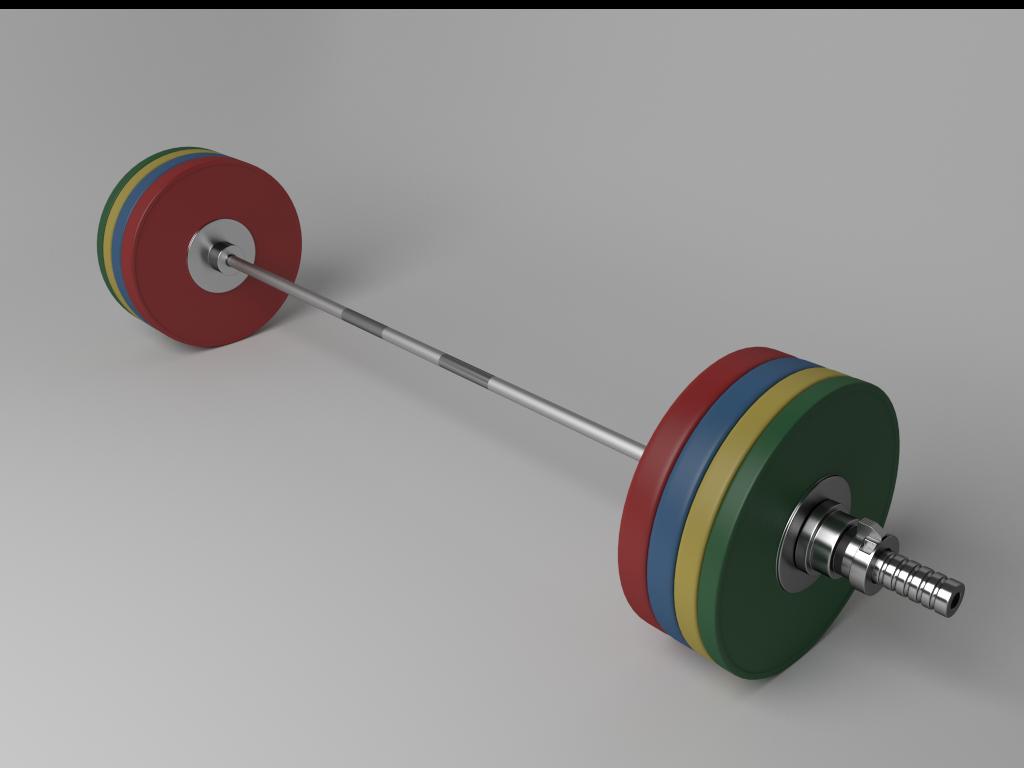 Olympic Barbell Model Obj S Fbx Blend 1