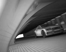 3D model White Audi A5 In The Tunnel