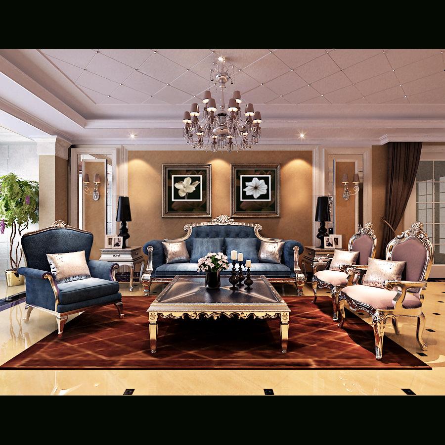 Royal Living Room 3D   CGTrader