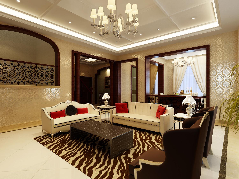 Modern Living Room With Zebra Carpet 3d Model Max 1 ... Part 91