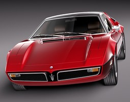 Maserati Bora 1971-1978 3D Model