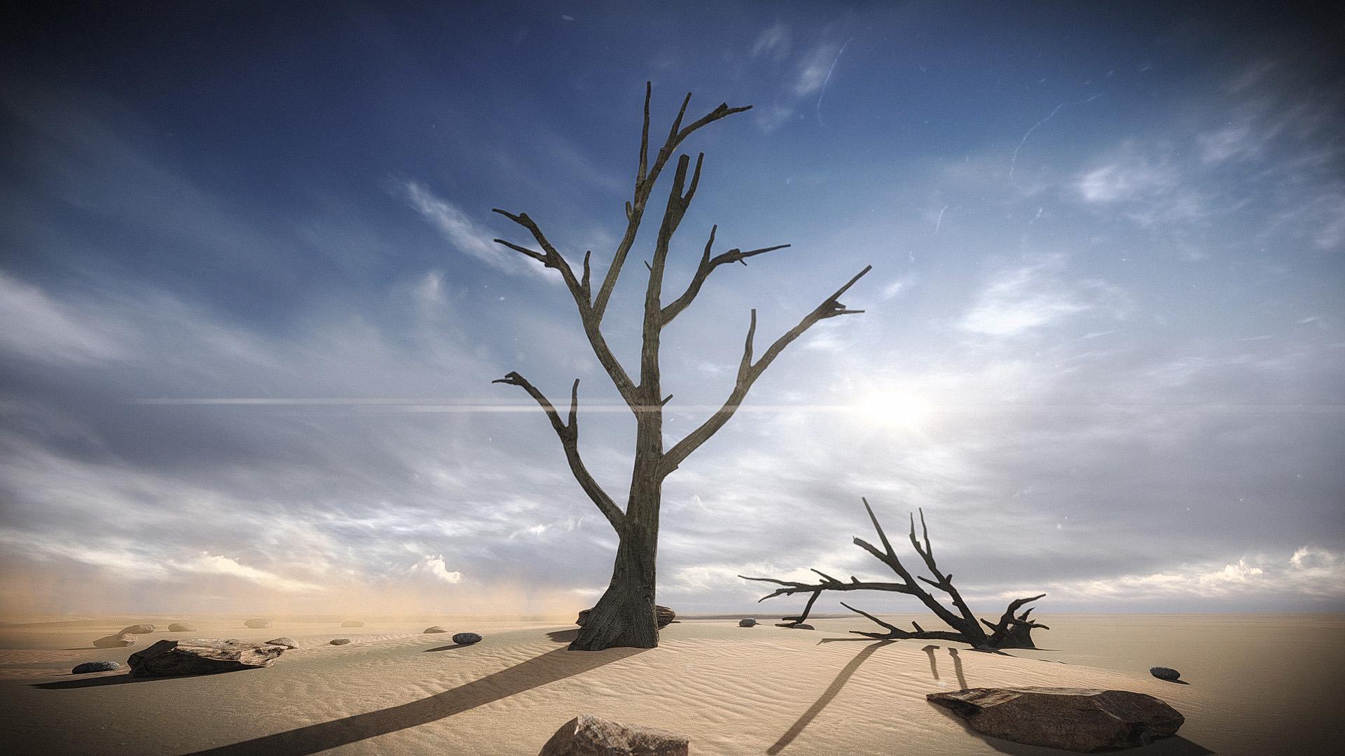 FREE 3 Dead Trees Sample Models