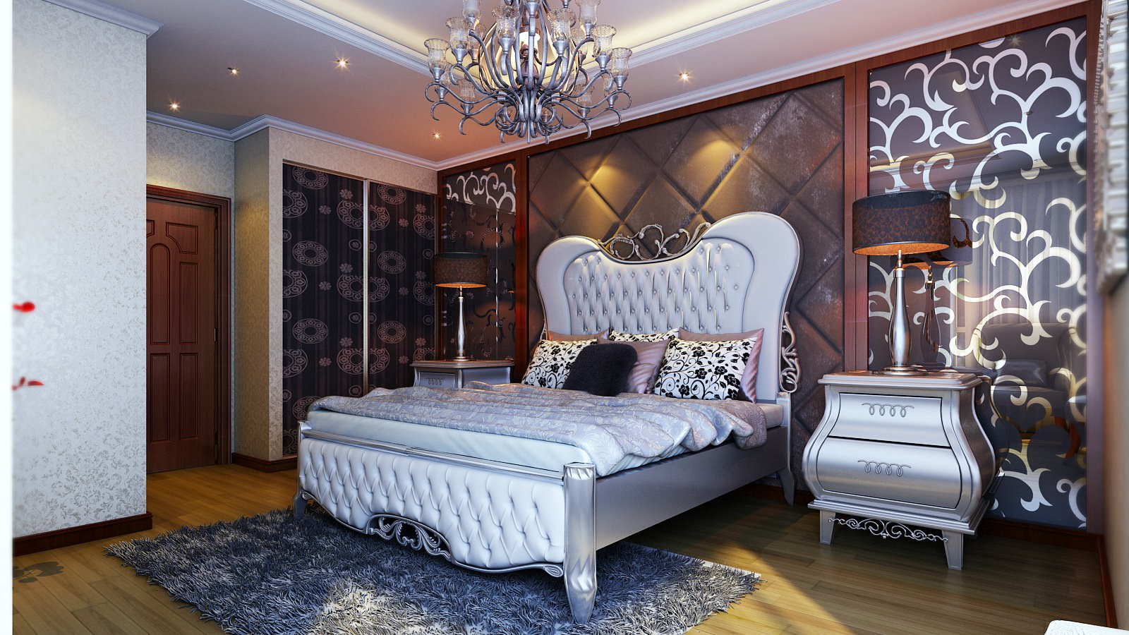 Luxurious bed room 3d model max for Room 3d model
