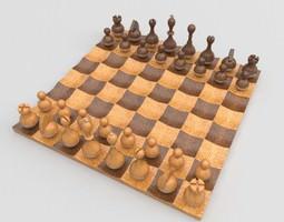 Wobble chess set 3D