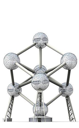 atomium 3d model max 3ds c4d dae skp 1