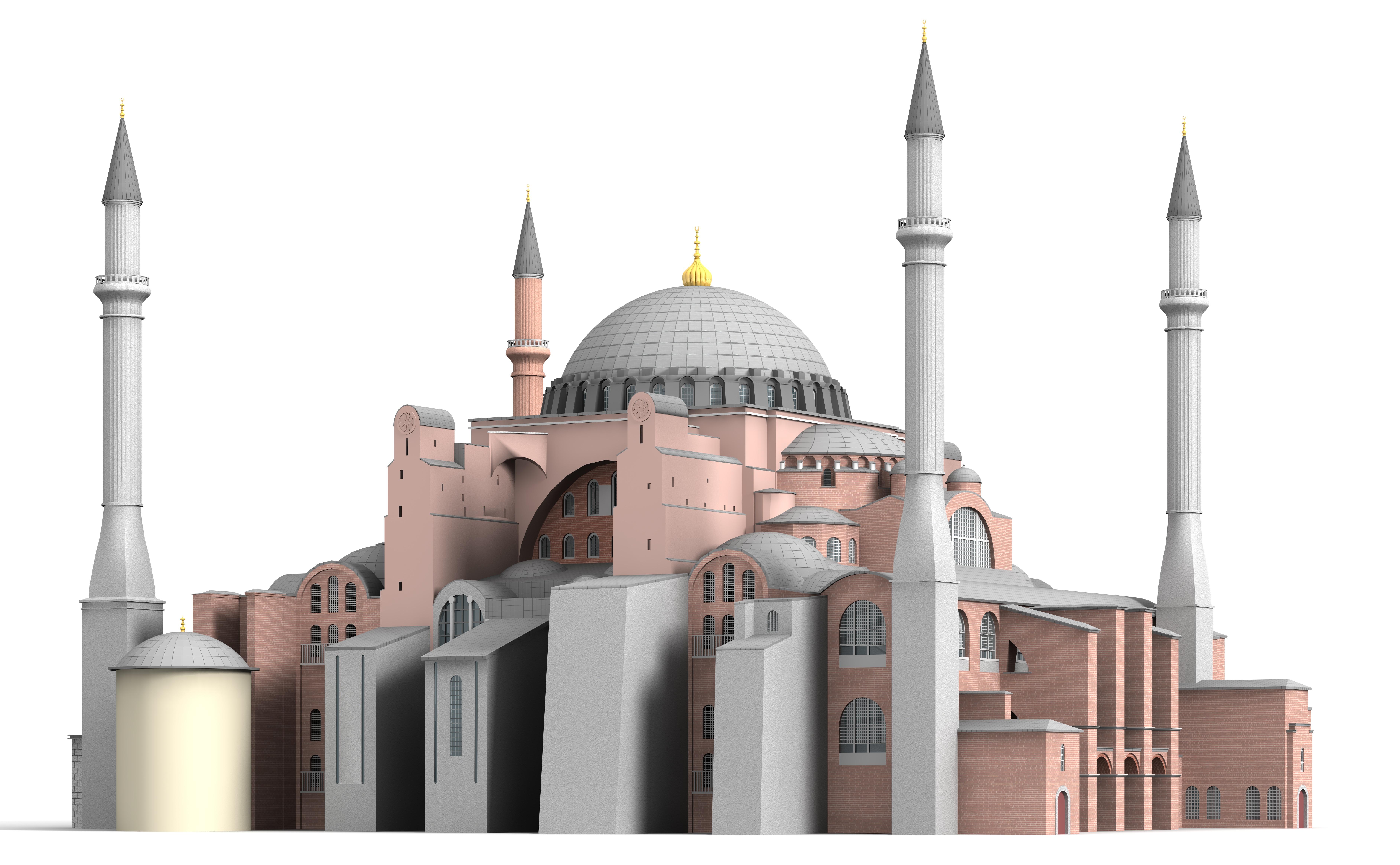 Hagia Sophia 3d Model 3ds C4d Dae Skp Cgtrader Com