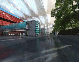 Spacious Shopping Mall 3D