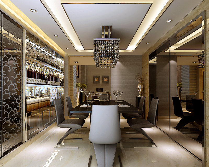 ... Modern Living And Dining Room Fully Furnished With Luxurious ... 3d  Model Max 6 Part 92