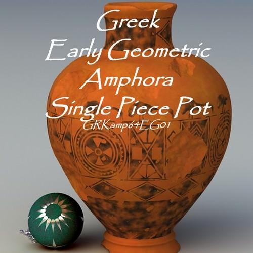 greek early geometric amphora single piece pot grkamp64eg01 3d model obj lwo lw lws 1