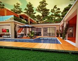 3D model House Riviera France