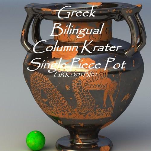 greek bilingual column krater single piece pot grkck01bi01 3d model obj lwo lw lws 1