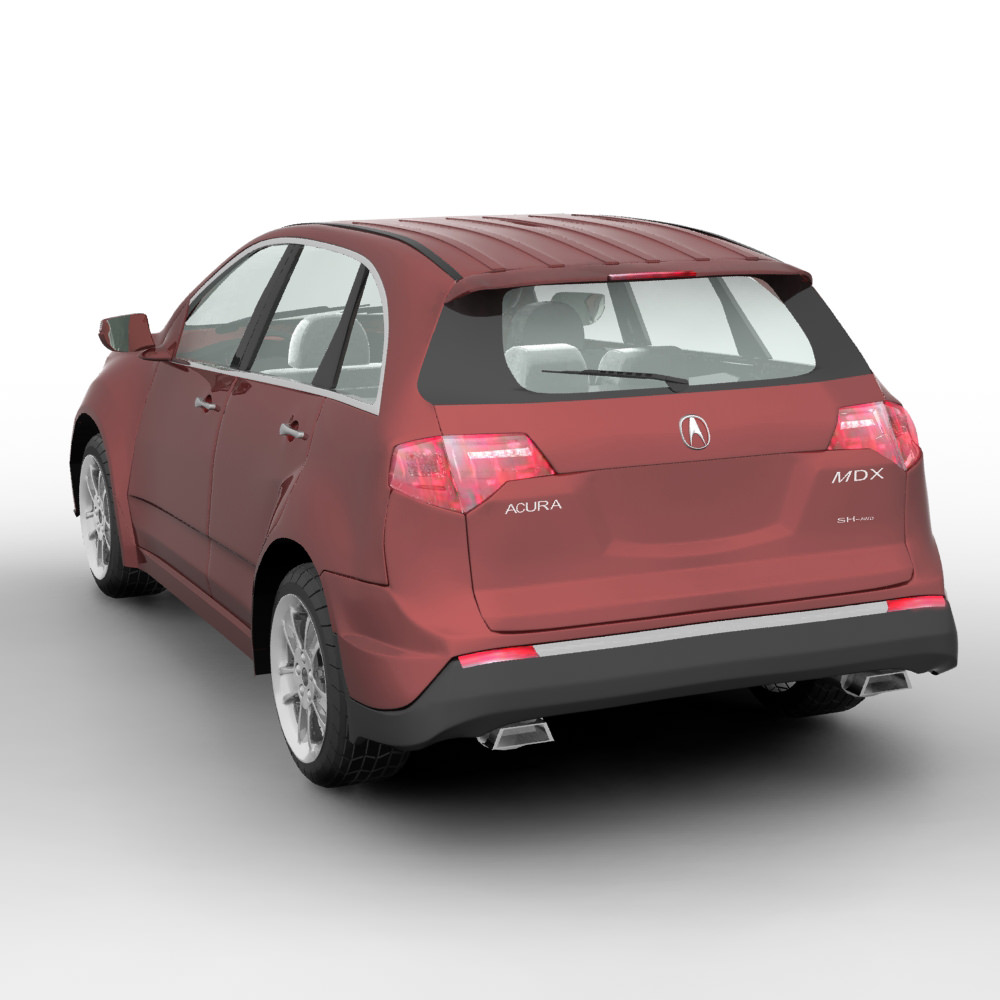 Acura MDX SUV 2011 3D Model MAX OBJ C4D MA MB