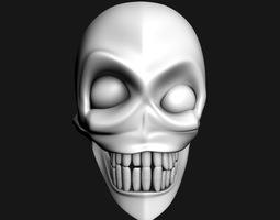 crazy skull mask 3D model