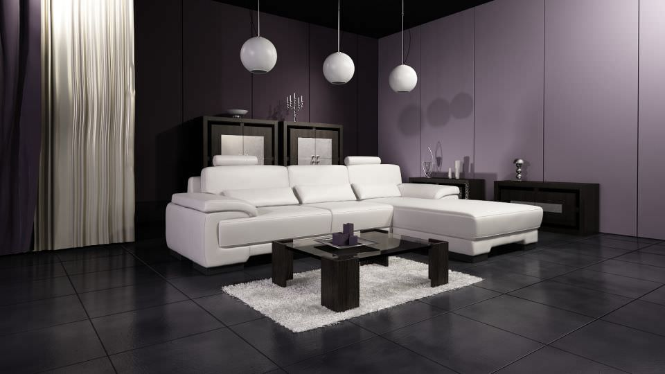 Living Room With Modern Interior Design Cgtrader