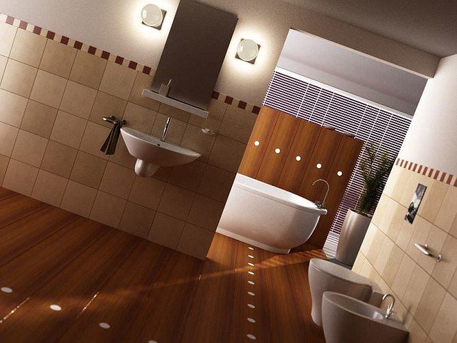 Scene of modern bathroom 3d model max for Bathroom design 3d model