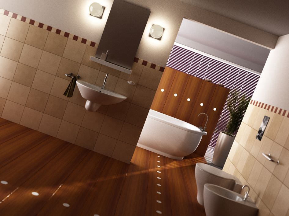 Scene of modern bathroom 3d model max for Bathroom design 3d model