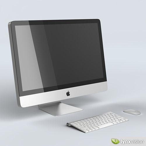 3d model apple imac 27 desktop computer cgtrader. Black Bedroom Furniture Sets. Home Design Ideas