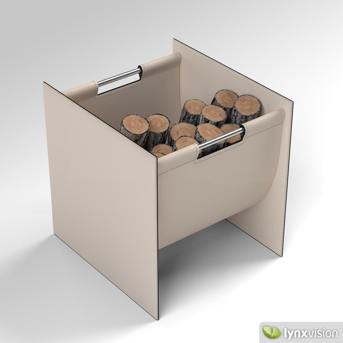 3d log basket cgtrader
