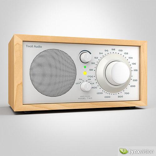 tivoli model one am fm radio 3d model max obj mtl fbx 1