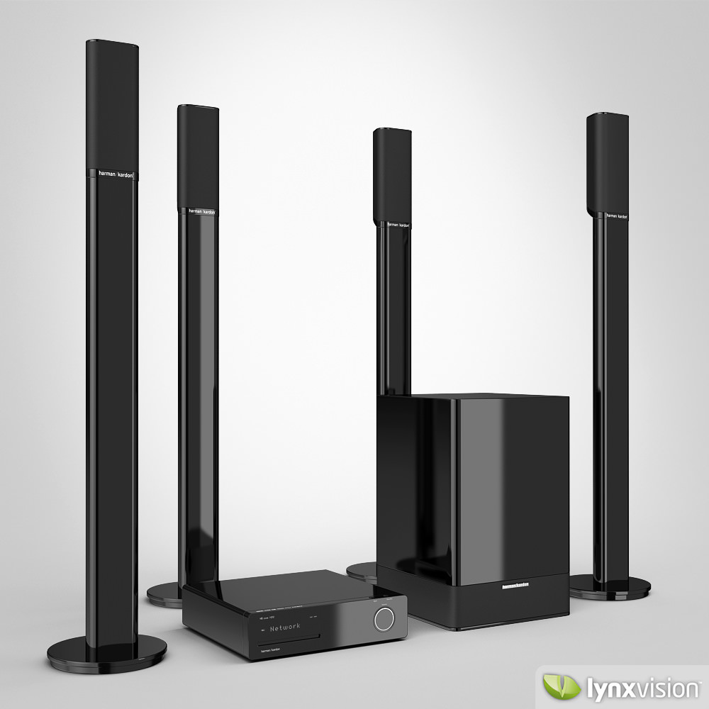 harman kardon home theater 3d model max obj fbx mtl. Black Bedroom Furniture Sets. Home Design Ideas