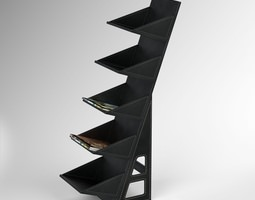 Leather CD DVD Tower 3D Model