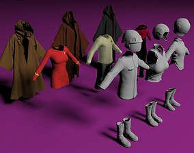 3D model Science fiction outfits