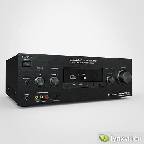 free sony av receiver 3d model max obj fbx c4d lwo lw lws lxo lxl 1