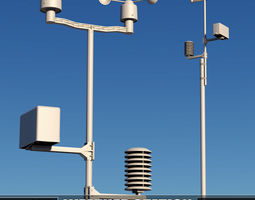 Weather meteo station device 3D model