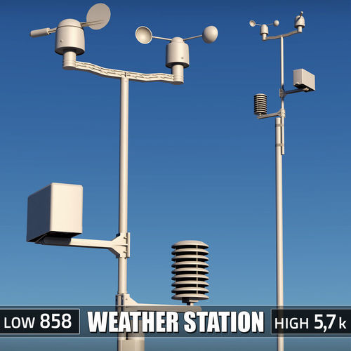 weather meteo station device 3d model max obj mtl 3ds fbx 1