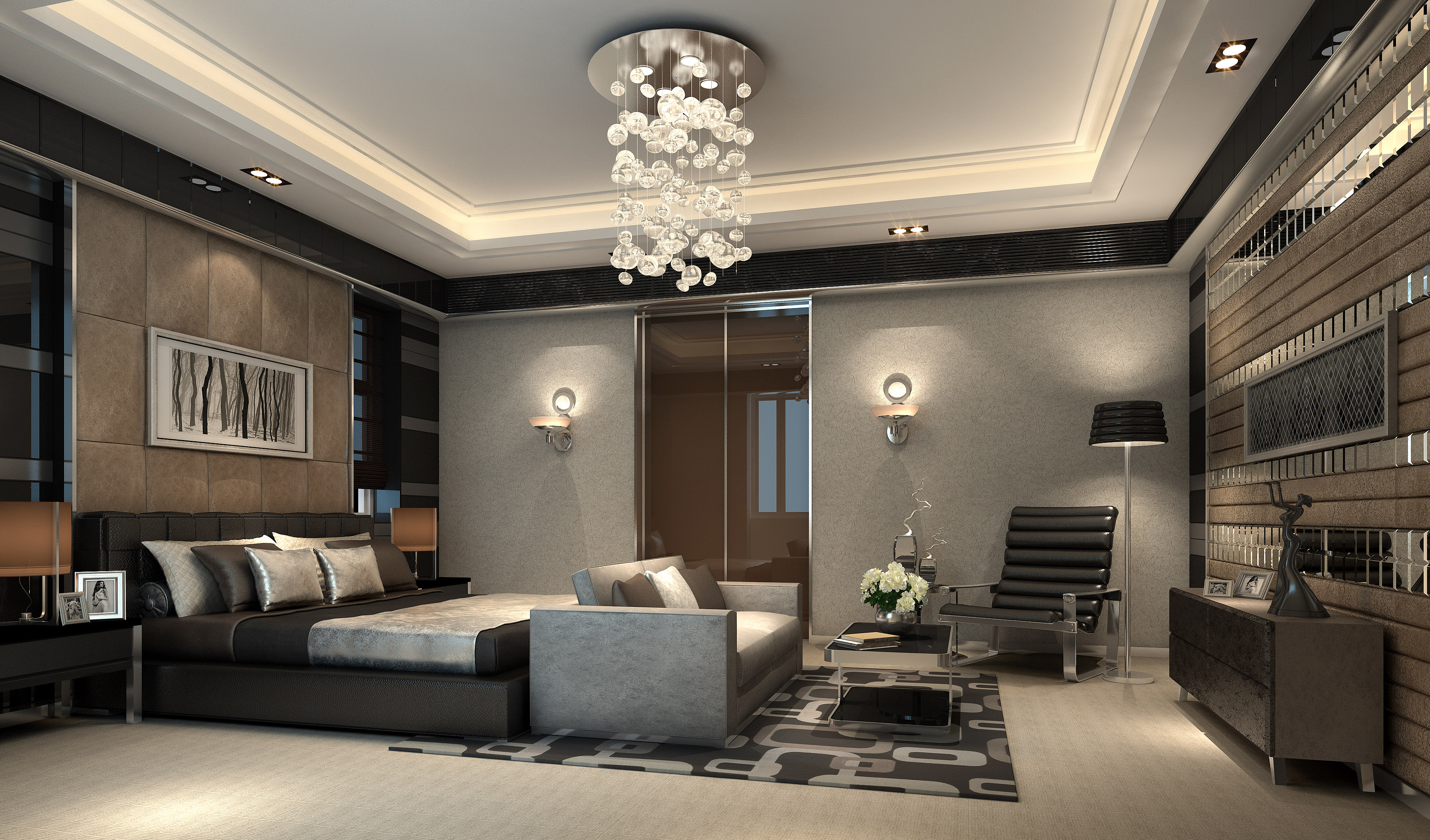 3d models bedrooms interior design d model luxurious for Model bedroom interior design