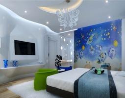 3D model Kids Bedroom with TV