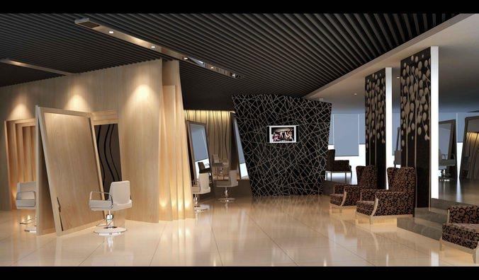 Luxurious Salon Interior 3d Model Cgtrader