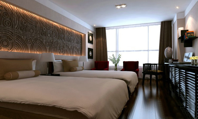 Modern Hotel Room 3d model collection modern hotel room