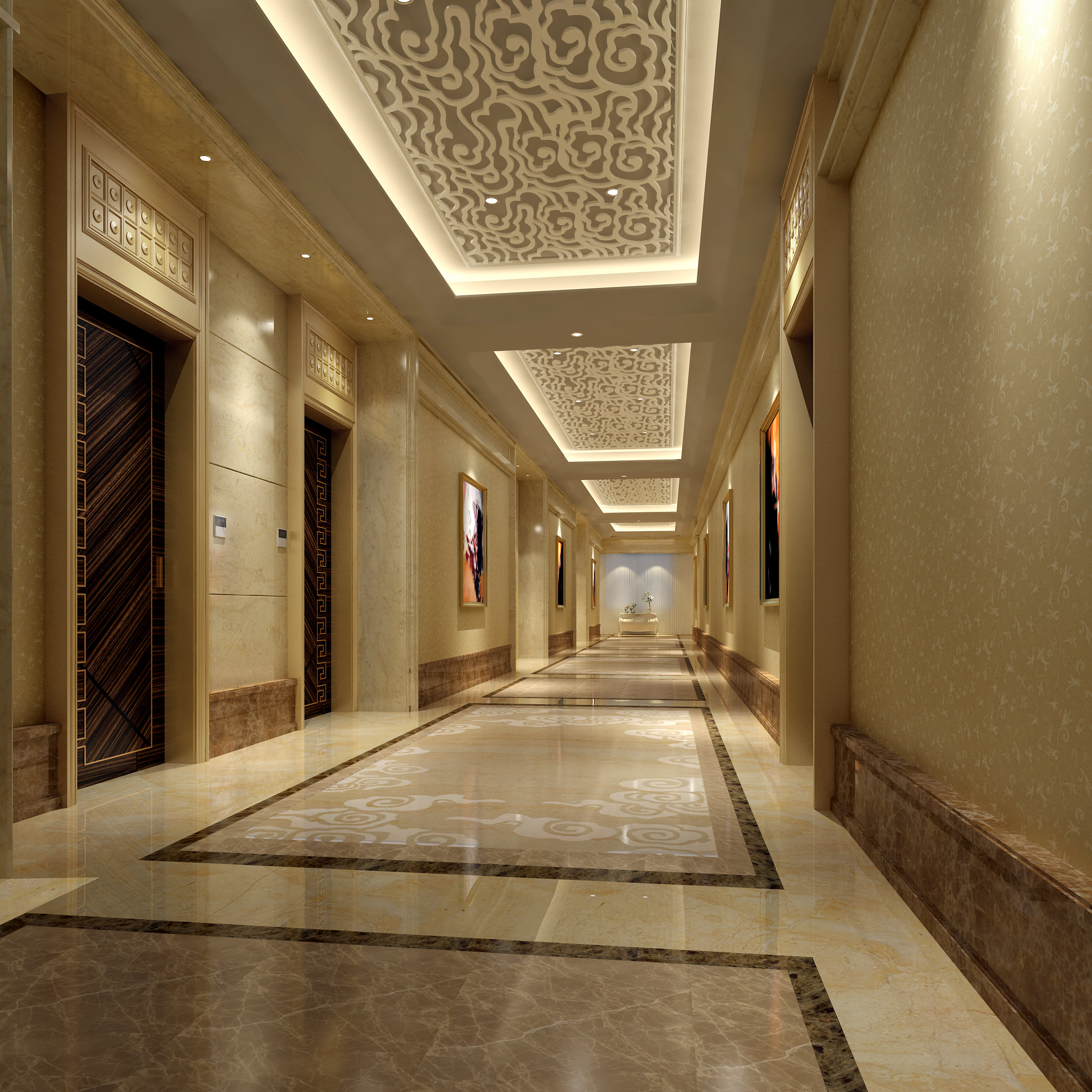 Collection hotel interior collection 3d model max for Interior decoration in 3d max
