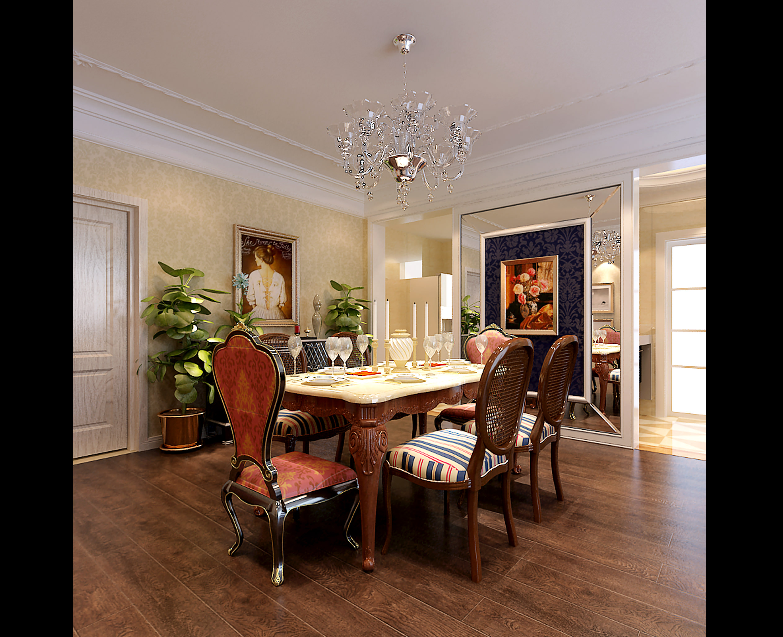 ... Collection Luxurious Dining Room Collection 3d Model Max Tga 9 ...