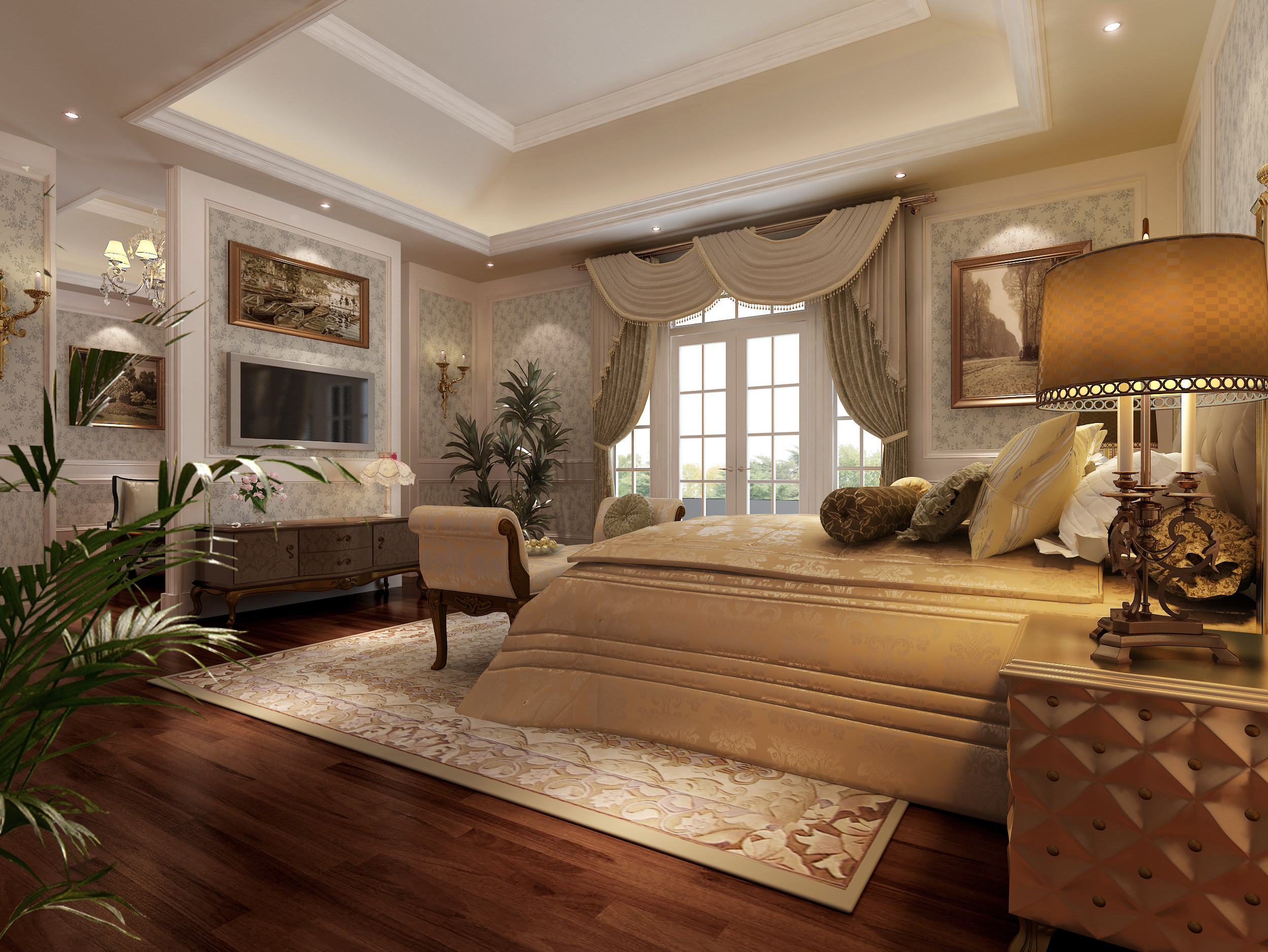 Model Bedroom Living Room And Bedroom Collection 3D Model  Cgtrader