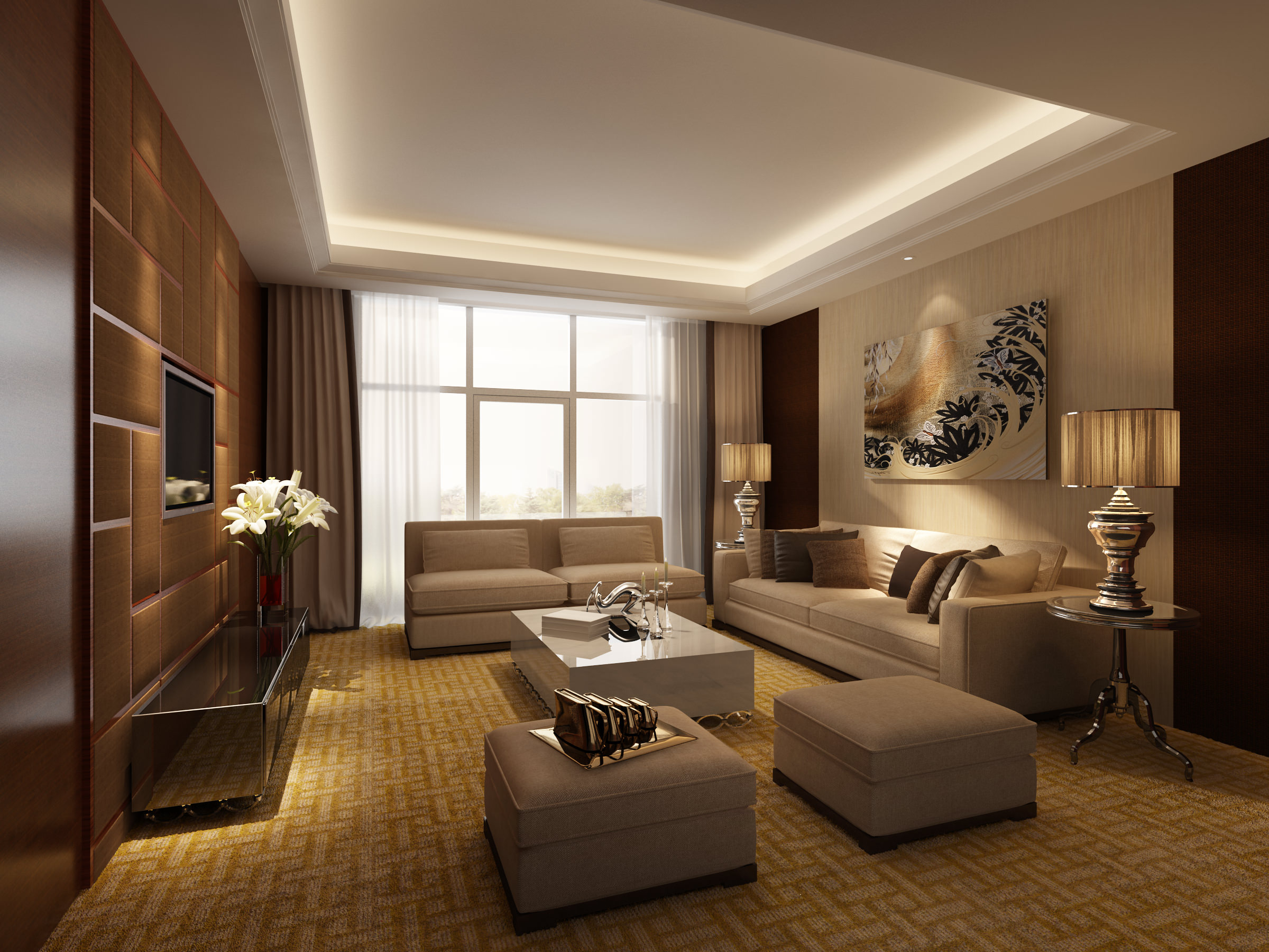 Model Bedroom living room and bedroom collection design 3d | cgtrader