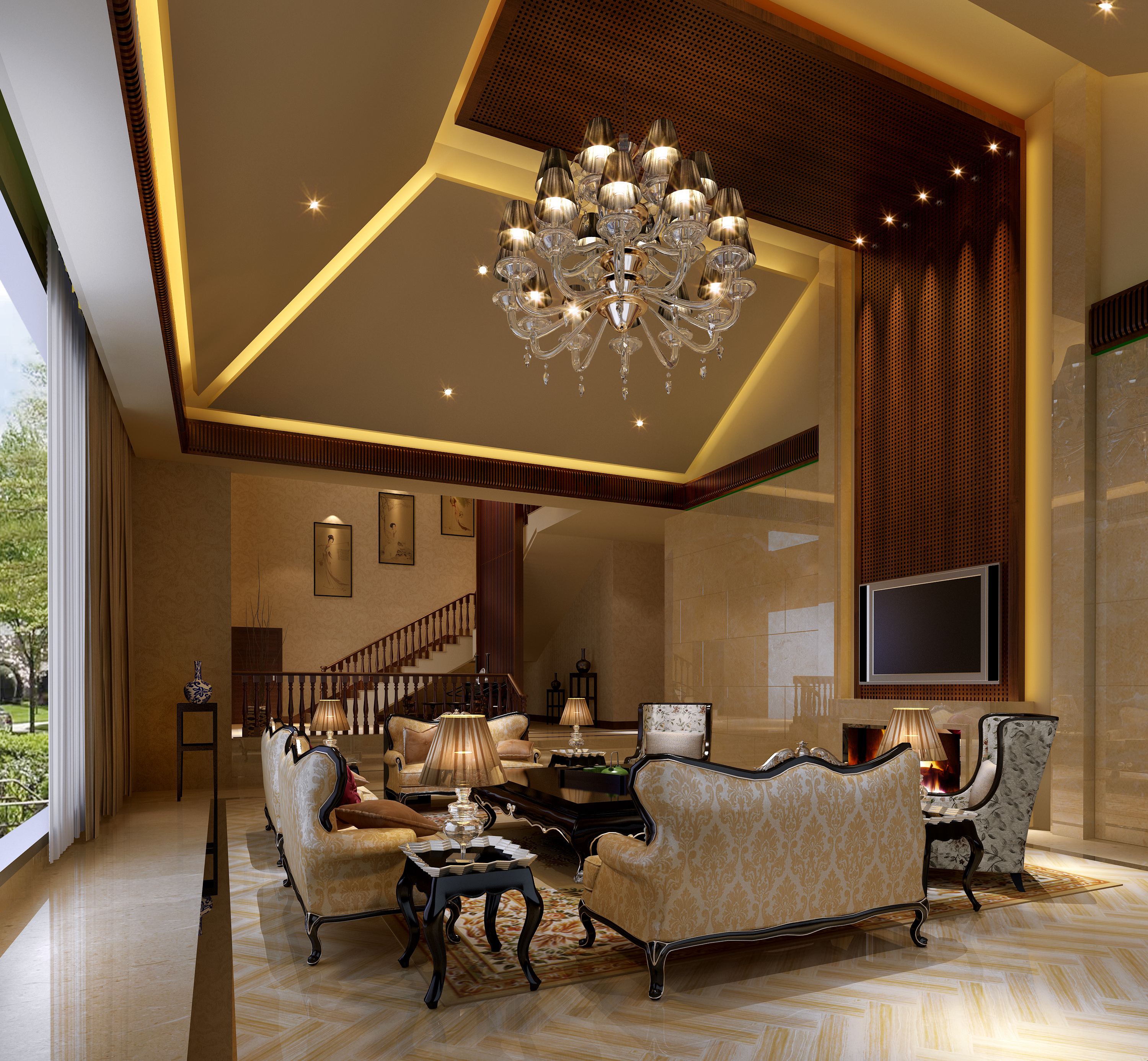 astounding 3d luxury living rooms | Collection Living Room And Bedroom Collection 1 3D Model ...
